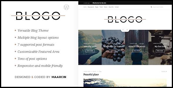 قالب Blogo - قالب وردپرس وبلاگی