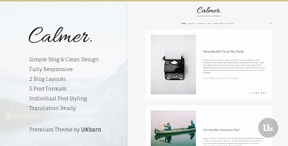قالب Calmer - قالب ریسپانسیو وبلاگ شخصی