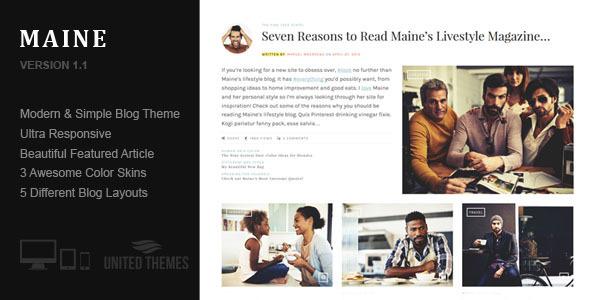قالب Maine - قالب وبلاگ وردپرس