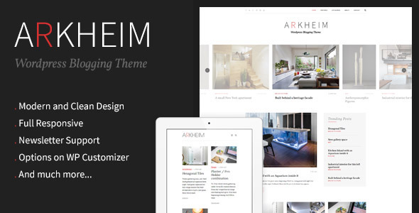 قالب Arkheim - قالب وبلاگ وردپرس