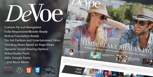 قالب DeVoe - قالب خبری مد و سرگرمی