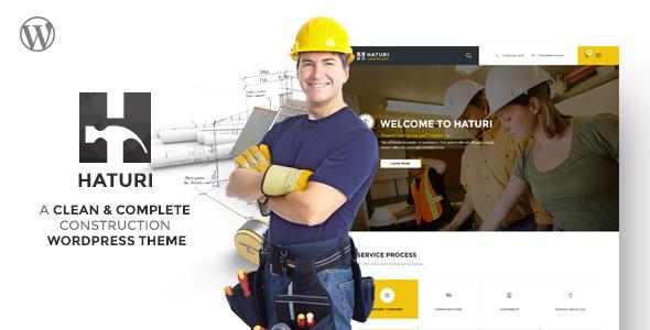 قالب Haturi - قالب وردپرس کسب و کار ساختمانی