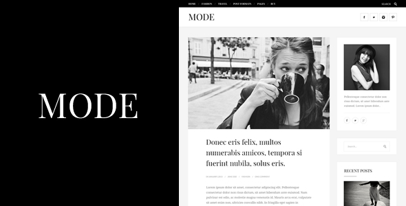 قالب Mode - قالب وبلاگ مد