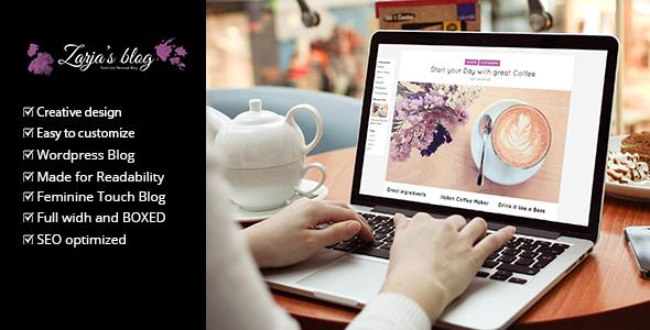 Zarja Blog - قالب وبلاگ وردپرس
