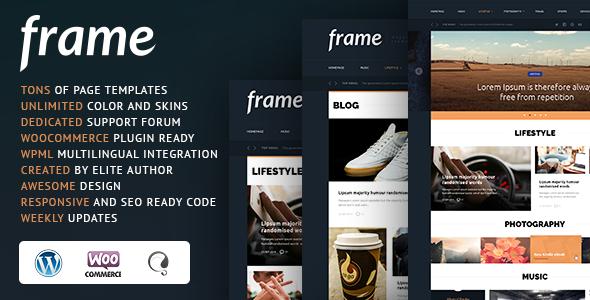 قالب Frame - قالب وردپرس مجله ای