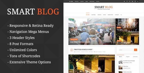 قالب Smart Blog - قالب وردپرس وبلاگ شخصی