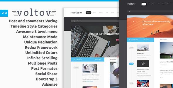 Voltov - قالب وردپرس وبلاگ و مجله