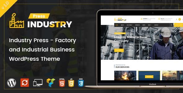 قالب Industry Press - قالب وردپرس کارخانه و صنعت