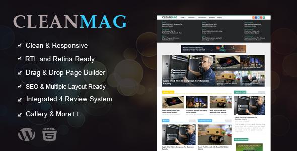 Cleanmag - قالب وردپرس مجله چند منظوره