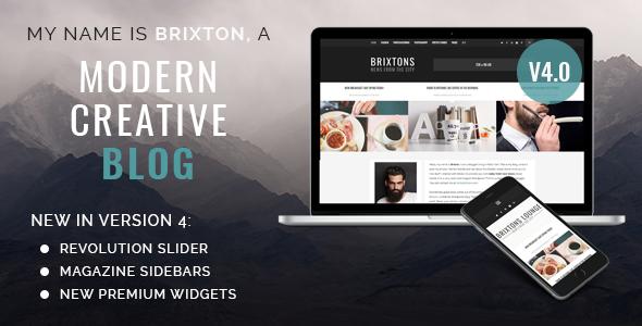 قالب Brixton Blog - قالب وبلاگ وردپرس