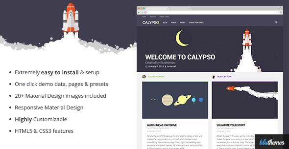 Calypso - قالب وردپرس متریال دیزاین