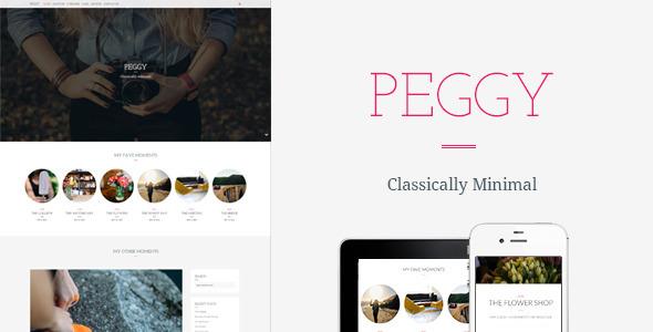 قالب Peggy - قالب وبلاگ وردپرس