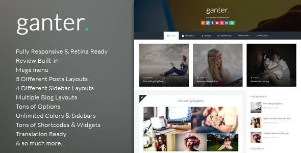 قالب Ganter - قالب وبلاگ نویسی وردپرس