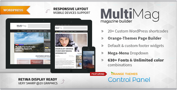 قالب MultiMag - قالب مجله چند منظوره
