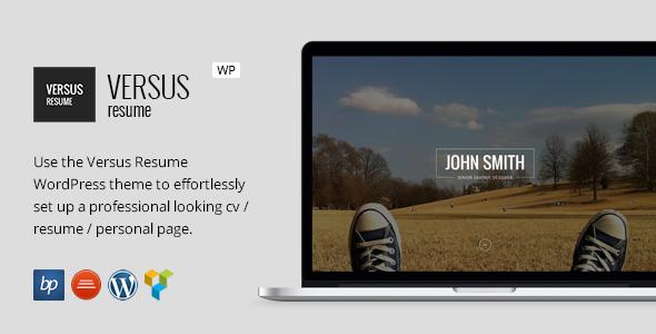 قالب VERSUS Resume - قالب وردپرس کارت ویزیت مجازی