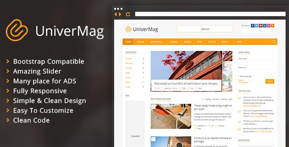 UniverMag - قالب خبری و مجله وردپرس