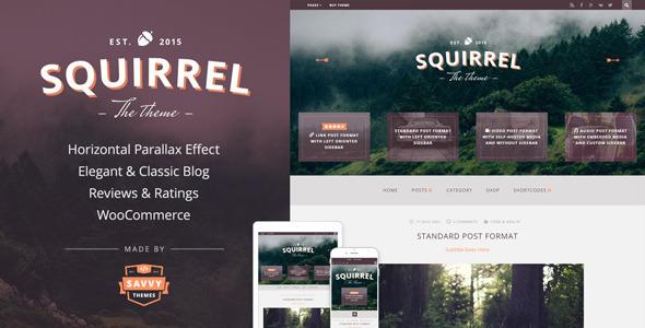 قالب Squirrel - قالب وبلاگ وردپرس