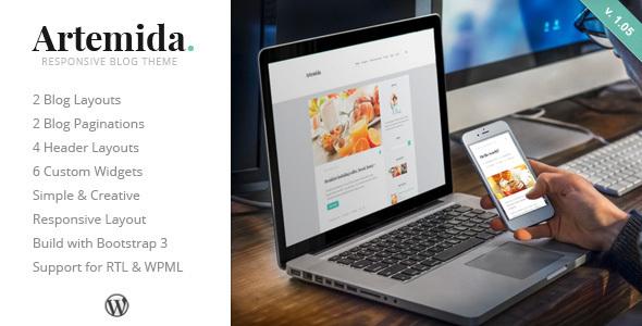 Artemida - قالب وردپرس وبلاگی