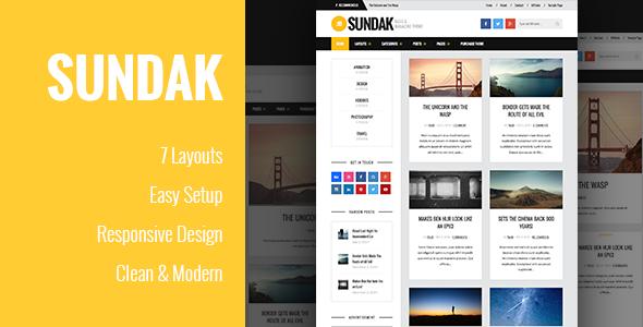 Sundak - قالب مجله و وبلاگ