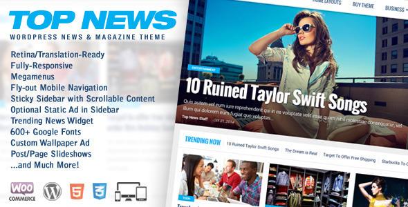 Top News - قالب خبری و مجله وردپرس