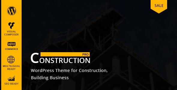 قالب Constructionpro - قالب وردپرس ساخت و ساز
