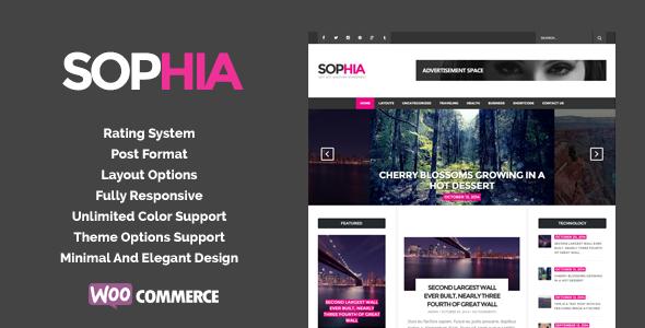 قالب Sofia - قالب وردپرس مجله شیک