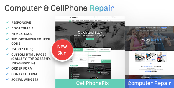 قالب Computer and CellPhone repair - قالب خدماتی وردپرس