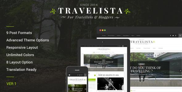 قالب Travelista - قالب وردپرس وبلاگ گردشگری