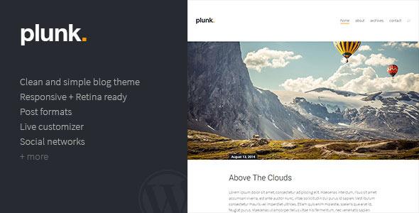 قالب Plunk - قالب وبلاگ وردپرس