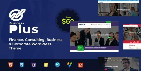 قالب Business Plus - قالب وردپرس مشاوره مالی