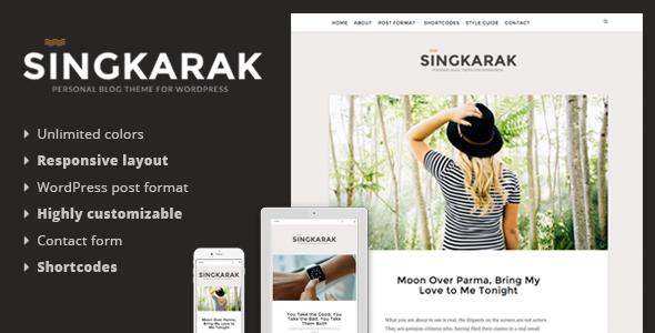 Singkarak - قالب وبلاگ وردپرس ریسپانسیو