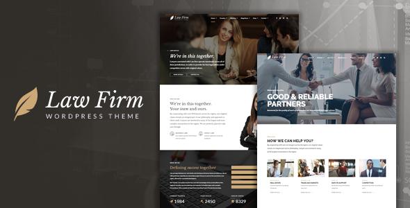 قالب Law Firm - قالب وردپرس سایت وکالت
