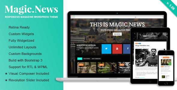 قالب MagicNews - قالب ریسپانسیو مجله برای وردپرس