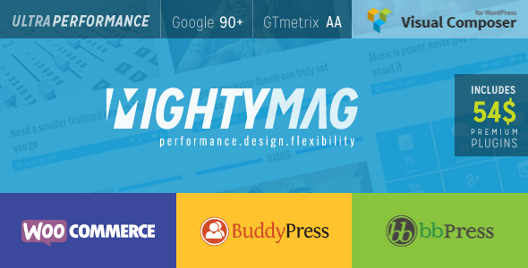 قالب MightyMag - قالب وردپرس مجله، فروشگاه و انجمن