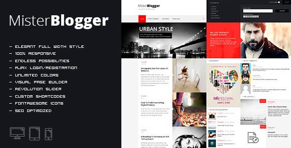 قالب MisterBlogger - قالب وردپرس وبلاگ و مجله