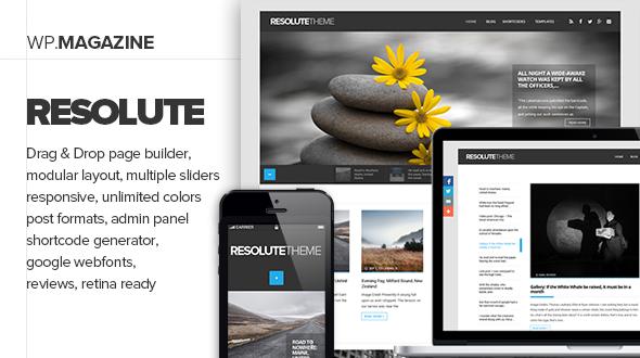 قالب Resolute - قالب سایت مجله و بلاگ