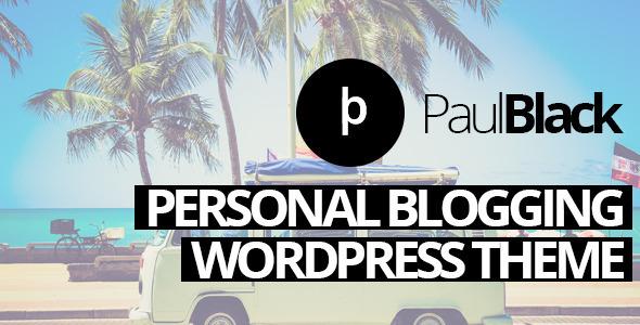 PaulBlack - قالب وردپرس وبلاگ شخصی