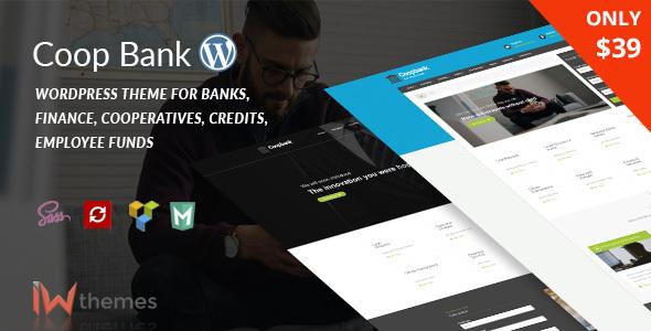 قالب CoopBank - قالب وردپرس سایت مالی و اعتباری