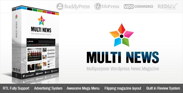 قالب مالتی نیوز | Multinews - قالب خبری و مجله وردپرس