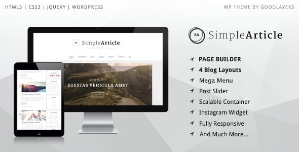 Simple Article - قالب وردپرس وبلاگ شخصی