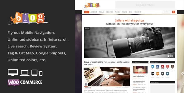 قالب Bblog - قالب وردپرس بلاگ و مجله