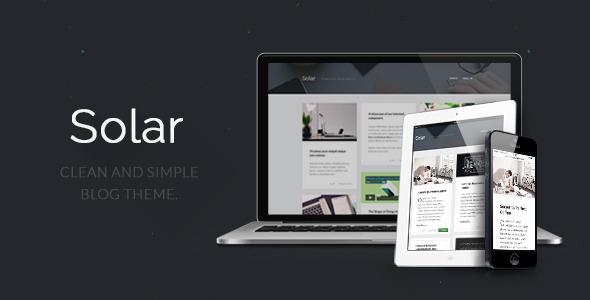 قالب Solar - قالب وبلاگ وردپرس