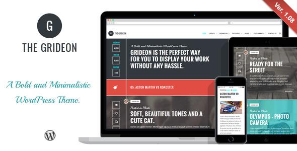 قالب Grideon - قالب وردپرس خلاقانه