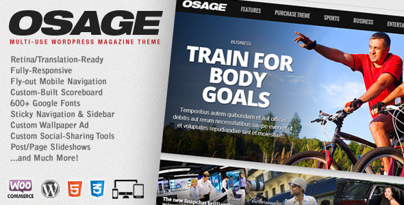 قالب Osage - قالب وردپرس چند منظوره مجله