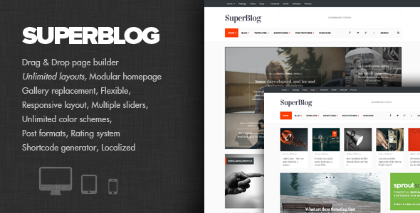 قالب SuperBlog - قالب قدرتمند وبلاگ و مجله