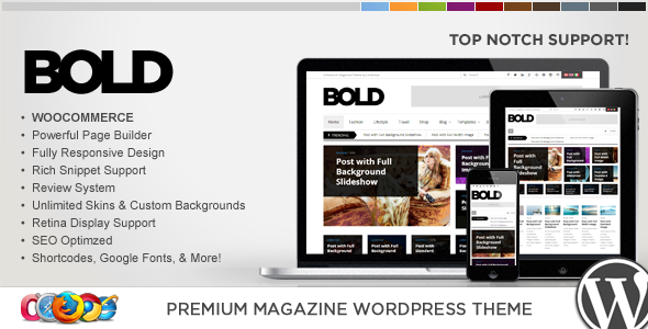 قالب WP Bold - قالب وردپرس خبری