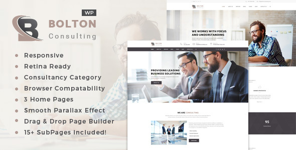 Bolton - قالب وردپرس مشاوره کسب و کار و خدمات حرفه ای