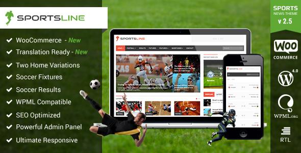 قالب Sportsline - قالب وردپرس خبری و مجله ای ورزشی
