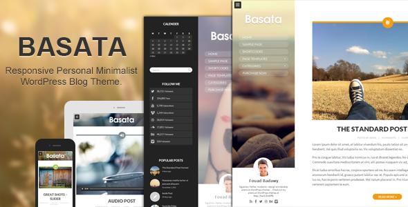 قالب Basata - قالب وردپرس وبلاگ