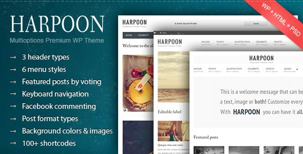 قالب Harpoon - قالب وردپرس ریسپانسیو